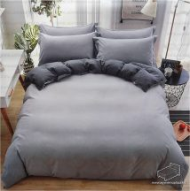 7 részes pamut ágynemű garnitúra, ágyneműhuzat garnitúra, Sötét és világos szürke