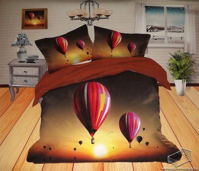 6 részes, 3D ágyneműhuzat garnitúra, pamut ágynemű, hőlégballon