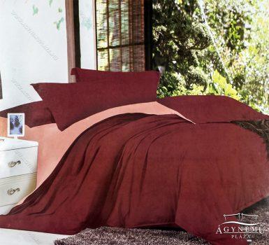7 részes pamut ágynemű garnitúra, ágyneműhuzat garnitúra, Bordó és rózsaszín