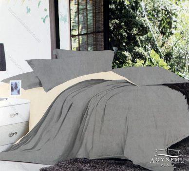 7 részes pamut ágynemű garnitúra, ágyneműhuzat garnitúra, Szürke és krém