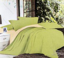 7 részes pamut ágynemű garnitúra, ágyneműhuzat garnitúra, Zöld és krém