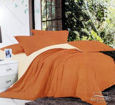 7 részes pamut ágynemű garnitúra, ágyneműhuzat garnitúra, Narancssárga és krém