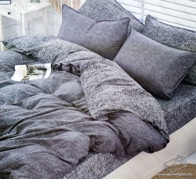 7 részes pamut ágynemű garnitúra, ágyneműhuzat garnitúra, Szürke mintás
