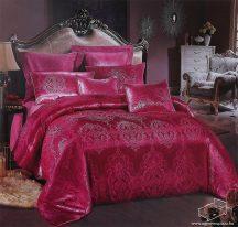 Selyem ágyneműhuzat garnitúra, 7 részes pamutszatén ágynemű, Vörös