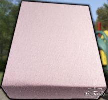 Jersey gumis lepedő 70x140 cm, Rózsaszín gumis lepedő