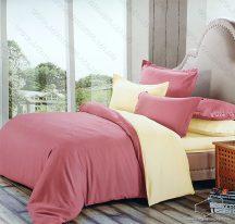 6 részes 2 színű ágyneműhuzat garnitúra, 220x200 cm ágyneműhuzat, Rózsaszín és krém