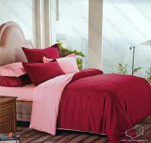 6 részes 2 színű ágyneműhuzat garnitúra, 220x200 cm ágyneműhuzat, Bordó és rózsaszín