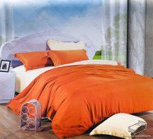 6 részes 2 színű ágyneműhuzat garnitúra, 220x200 cm ágyneműhuzat, Narancs és krém