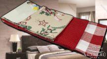 3 részes, Karácsonyi konyharuha szett, 45x70 cm, Piros fenyő díszes