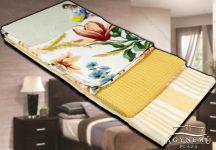3 részes, mintás konyharuha szett, 45x70 cm, Sárga virágos konyhakendő
