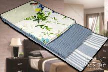 3 részes, mintás konyharuha szett, 45x70 cm, Kék virágos konyhakendő