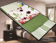 3 részes, mintás konyharuha szett, 45x70 cm, Zöld virágos konyhakendő