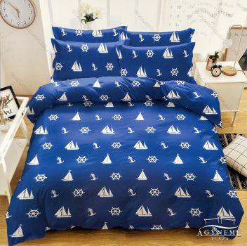 3 részes horgony ágynemű garnitúra, Anchor ágyneműhuzat garnitúra, kék hajós