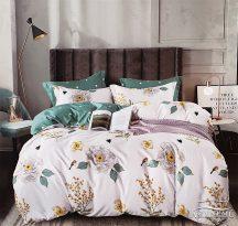3 részes ágynemű garnitúra, ágyneműhuzat garnitúra, pamut ágynemű, Krém Virág