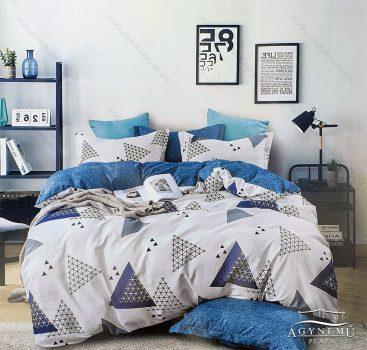 3 részes ágynemű garnitúra, ágyneműhuzat garnitúra, pamut ágynemű, Kék absztrakt