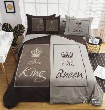 Mr. & Mrs. ágyneműhuzat garnitúra, Mr. és Mrs. ágynemű, Szürke, King és Queen