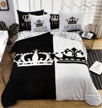 Mr. & Mrs. ágyneműhuzat garnitúra, Mr. és Mrs. ágynemű, fekete és fehér, King és Queen