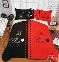 Mr. & Mrs. ágyneműhuzat garnitúra, Mr. és Mrs. ágynemű, Piros és fekete Mr. & Mrs.