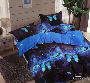 Ágyneműhuzat garnitúra, 6 részes ágynemű 220x200 cm ágyneműhuzat garnitúra, Kék pillangó