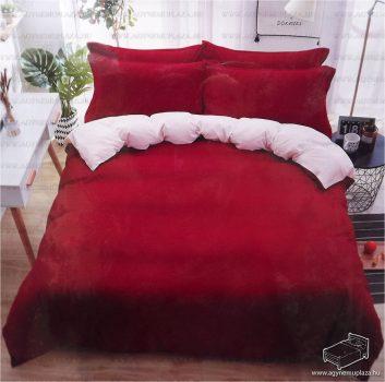 7 részes pamut ágynemű garnitúra, ágyneműhuzat garnitúra, Piros és fehér