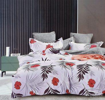 7 részes ágynemű garnitúra, ágyneműhuzat garnitúra, pamut ágynemű, Fehér Virág
