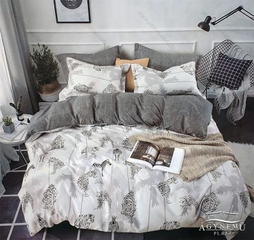 7 részes ágynemű garnitúra, ágyneműhuzat garnitúra, pamut ágynemű, Szürke szavanna
