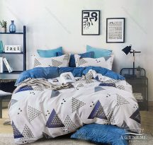 7 részes ágynemű garnitúra, ágyneműhuzat garnitúra, pamut ágynemű, Kék absztrakt