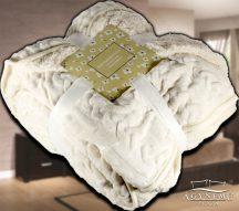 Nyomott mintás ágytakaró, vastag polár pléd, fehér szőrme ágytakaró, Krém fehér polár