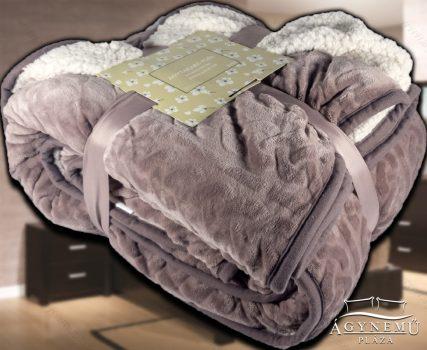 Nyomott mintás ágytakaró, vastag polár pléd, fehér szőrme ágytakaró, Pasztell polár