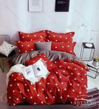 3 részes ágyneműhuzat, ágynemű garnitúra, pamut ágynemű szett, Piros virágos ágynemű