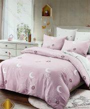6 részes pamut ágynemű garnitúra, 220x200 cm ágyneműhuzat garnitúra, Rózsaszín csillagkép