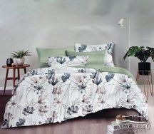 Ágyneműhuzat szett, 7 részes pamut ágynemű garnitúra, narancs pálmalevél ágynemű