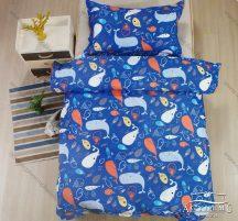 Gyerek ágynemű, ovis ágynemű garnitúra, 100x140 cm ovis ágyneműhuzat, kék Delfin