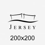 Jersey gumis lepedő 200x200 cm